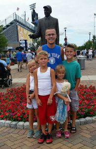 Tristan Thomas, Safety Representative, and his children.